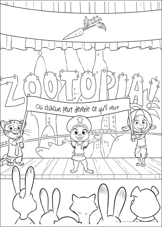 eoraptor coloring pages | Fuentes' English Corner : Zootopia