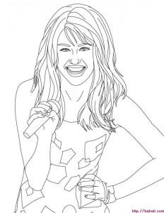 Dibujos para pintar Hannah Montana 1