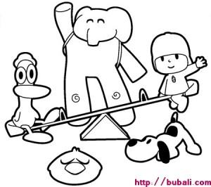 Dibujos para pintar POCOYO y sus amigos