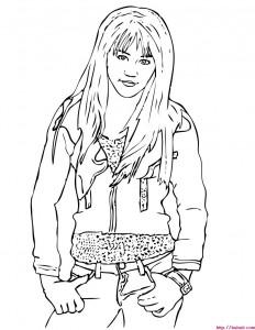 Imágenes para colorear Hannah Montana