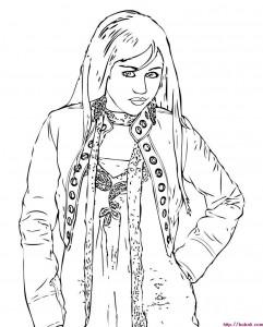 Dibujos para colorear Hannah Montana